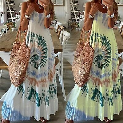 Summer Cocktail Beach Party Evening Floral Fashion Dress Maxi Casual Sundress