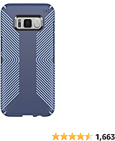 Speck Products Presidio Grip Cell Phone Case for Samsung Galaxy S8 - Marine Blue/Twilight Blue