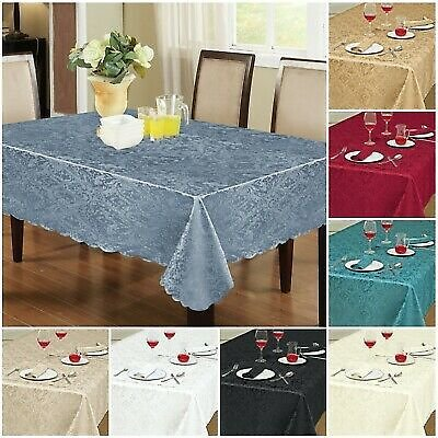 Wipe Clean Tablecloth Waterproof Table Cloth Protector Dining Kitchen Tableware