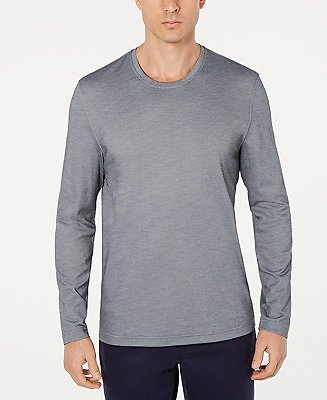 Tasso Elba Men's Supima® Blend Crewneck Long-Sleeve T-Shirt, Created for Macy's & Reviews - T-Shirts - Men