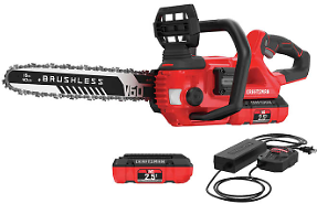 Craftsman 60V Chainsaw & Two 2.5AH 60V Batteries With Charger