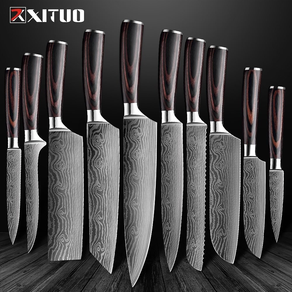 US $7.33 53% OFF|XITUO Kitchen Knives Set Chef Knife High Carbon Stainless Steel Santoku Knife Sharp Cleaver Slicing Knife Best Choice for Kitche|chef Knife|slicing Knifekitchen Knife - AliExpress