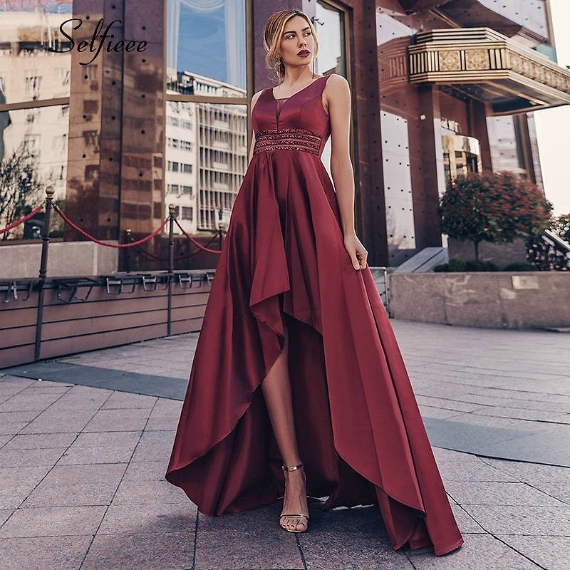 US $29.44 40% OFF|Sexy Satin Women Dress Asymmetrical Double V Neck Sequined Sparkle Maxi Dress New Fashion Ladies Party Dress Ropa Mujer 2020|Dresses| - AliExpress