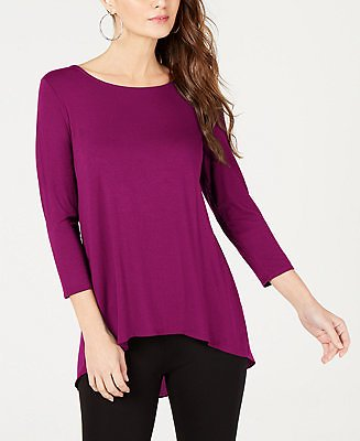 Alfani Woven-Back Top, Created for Macy's & Reviews - Tops - Women
