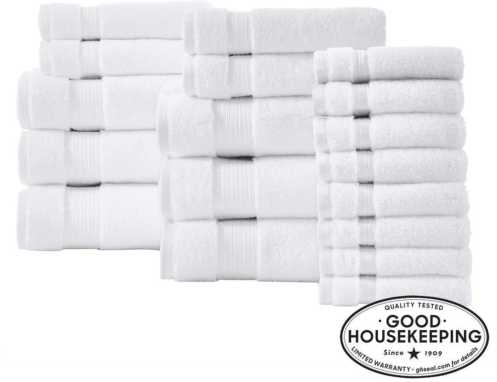 Home Decorators Collection Egyptian Cotton 18-Piece Towel Set in White-AT17754_57_63_White