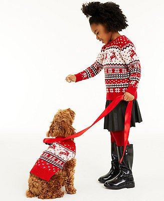 Charter Club Little Girls Reindeer Sweater, Created for Macy's & Reviews - Sweaters - Women