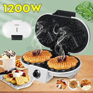SOKANY 1200W Electric Double-side Waffles Maker Non-stick Sandwich Cake Machine