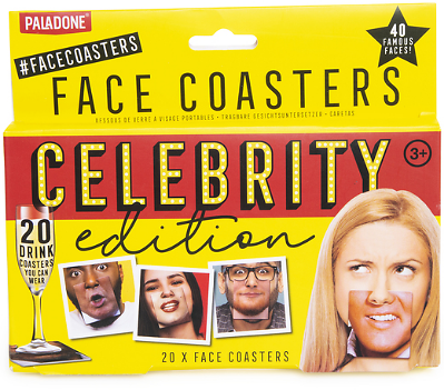 Face Coasters: Celebrity Edition Game