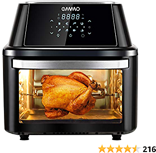 Air Fryer Oven Combo, 17 Quarts 1800W Air Fryer Toaster Oven with 8 Presets