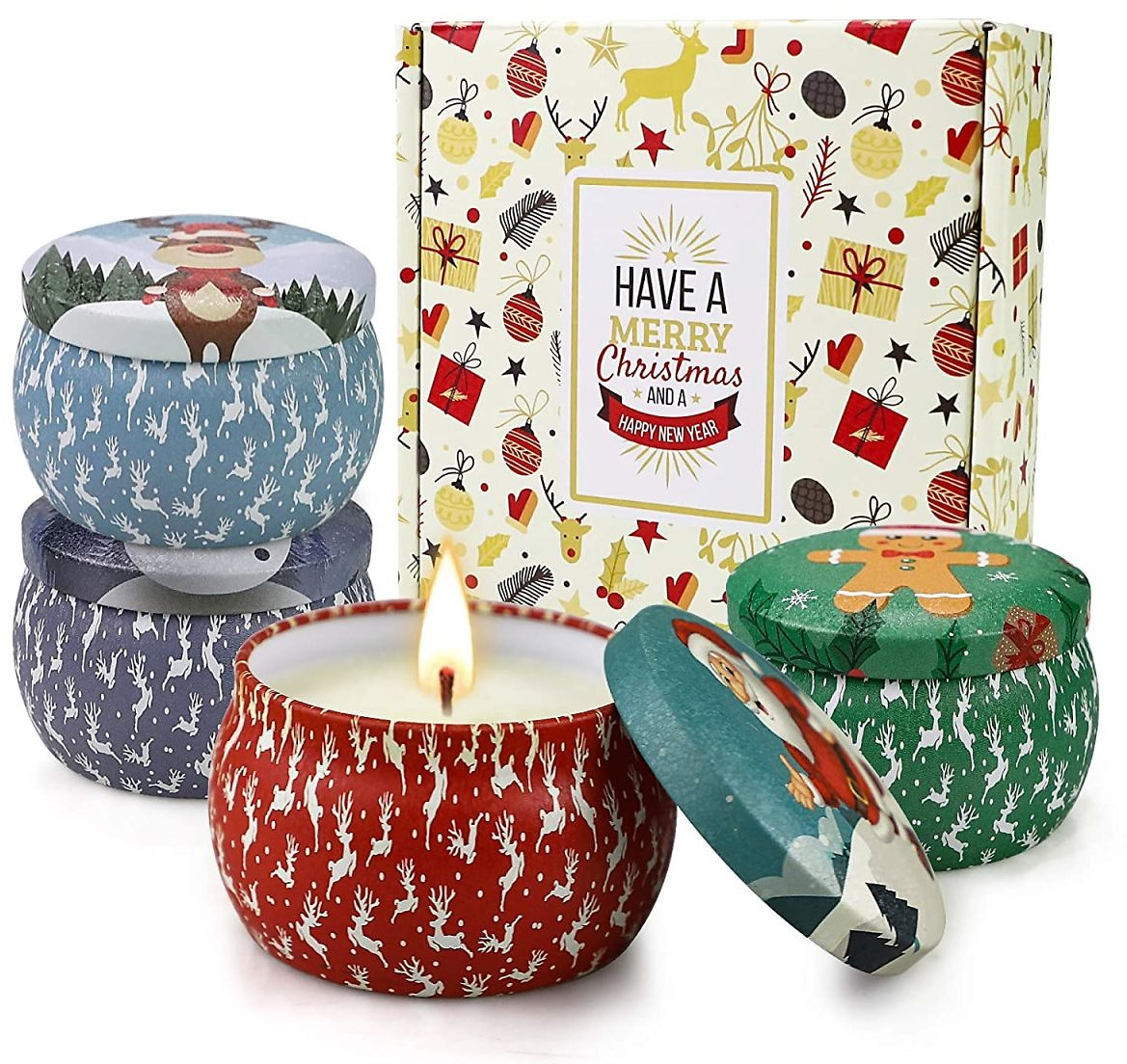 Scented Christmas Candles