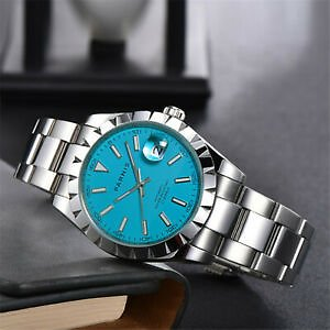 Parnis Blue Men Wristwatches Miyota Automatic Movement New Arrival Wrist Watch