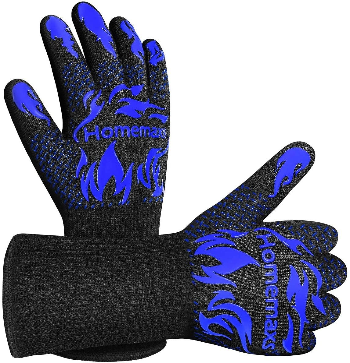 BBQ Gloves 1472℉ Extreme Heat Resistant Grill Gloves, Food Grade Kitchen Oven Mitts