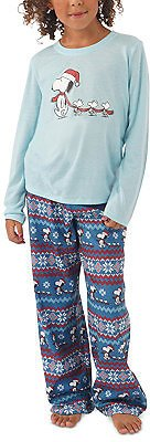 Munki Munki Matching Kids Peanuts Family Pajama Set & Reviews - Bras, Panties & Lingerie - Women