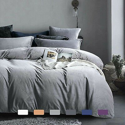 Flannel Zippered Duvet Cover Set 2-3 Pieces Ultra Soft Luxurious Warm Cover Set