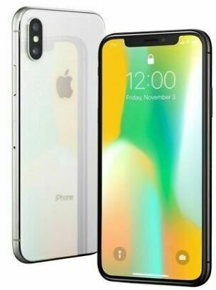 Apple IPhone X - 64GB - Silver (Unlocked) A1865 (CDMA + GSM) for Sale Online