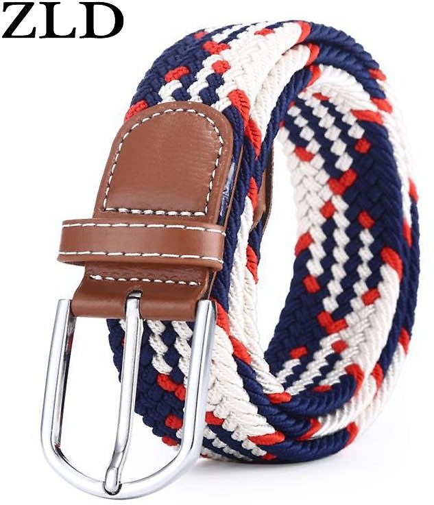 US $3.77 51% OFF|ZLD 60 Colors Men Women Casual Knitted Pin Buckle Belt Woven Canvas Elastic Expandable Braided Stretch Belts Plain Webbing Strap|Men's Belts| - AliExpress