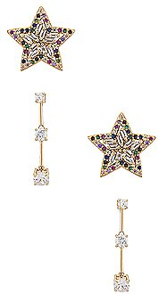 Vanessa Mooney The Kea Earring Set in Gold | REVOLVE