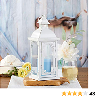 Kate Aspen Antique White Decorative Medium Lantern