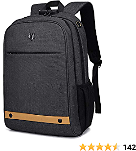 Computer Backpack,Travel Laptop Backpack with Lock Anti Theft Durable, Water Resistant College Students Lightweight Slim Computer Bag for Women/Men Fits 15.6 Inch Laptop and Notebook, Black