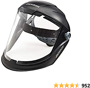 43% Off Jackson Safety Lightweight MAXVIEW Premium Face Shield with Ratcheting Headgear