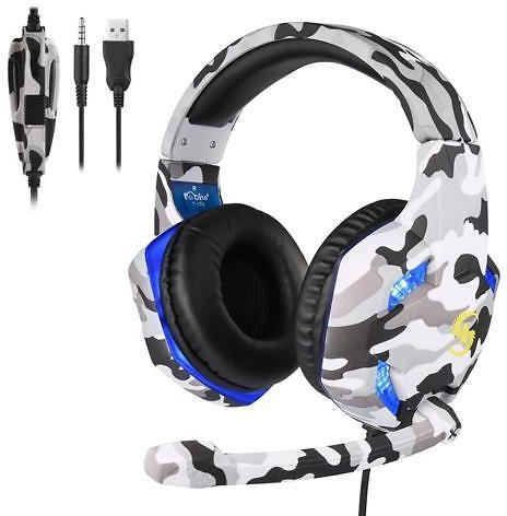 Camouflage Gaming Headset MIC LED Headphones 3.5mm Gamer Stereo Head-mounted Headphones For PC Laptop PS4 Pro Xbox One S 360 - Newegg.com