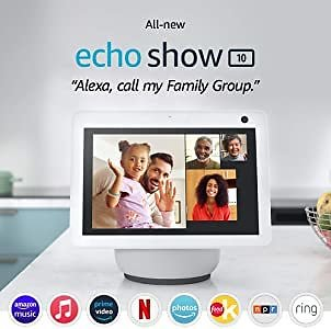All-new Echo Show 10 (3rd Gen) | HD Smart Display with Motion and Alexa