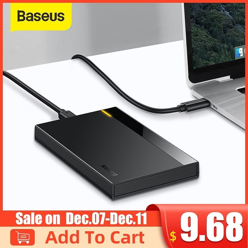 US $9.83 35% OFF|Baseus HDD Case 2.5 SATA to USB 3.0 Adapter Hard Disk Case HDD Enclosure for SSD Case Type C 3.1 HDD Box HD External HDD Caddy|HDD Enclosure| - AliExpress