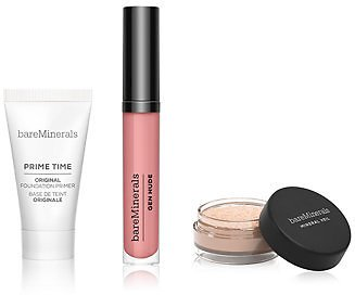 BareMinerals 3-Pc. Primer, Finishing Powder & Lip Lacquer Gift Set - Makeup - Beauty