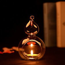 Cute Crystal Glass Hanging Candle Holder Candlestick Romantic Wedding Dinner