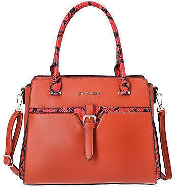 Red Faux Leather Snake Skin Print Tote Bag Fashion Handbag Tote Bag for Women