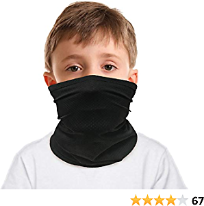 TALONITE Kids Summer Face Mask Bandana,Breathable Elastic Reusable Neck Gaiter for Boys Girls Sun Dust UV Protection Perfect for Cycling Fishing Outdoor Activities