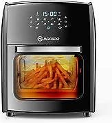 MOOSOO Air Fryer, 12.7QT Air Fryer Oven 8-in-1, 1700W Electric Rotisserie Oven with LED Digital Touchscreen, Toaster Oven