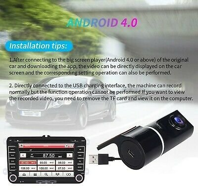 Dash Cam 1080P Car DVR Camera 170°Wide Angle Security Driving Video Recorder New