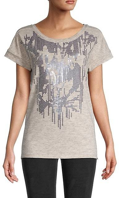 NIC+ZOE Lily Sequin-Embellished T-Shirt