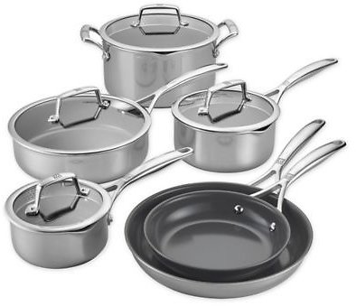 SALE 20% OFF ON Zwilling® J.A. Henckels Energy Plus Nonstick Stainless Steel 10-Piece Cookware Set | Bed Bath & Beyond