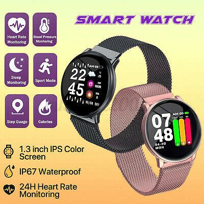 Smart Watch Fitness Tracker Blood Pressure Heart Rate Monitor For IOS A!