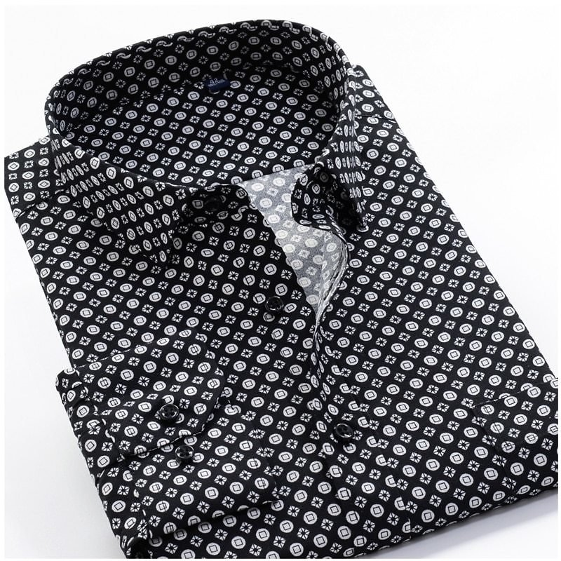 US $16.93 49% OFF Large Size 8XL 9XL 10XL VROKINO Brand 2020 Vintage Floral Print Long Sleeves Men's Business Casual Dress Fashion Classic Shirt Casual Shirts  - AliExpress