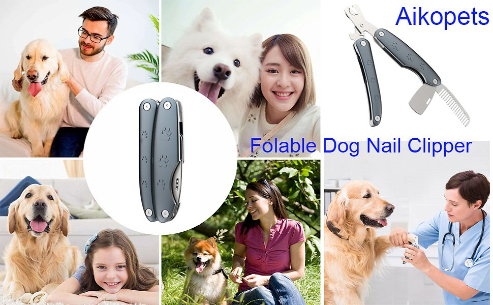 70% Off for Dog Folable Nail Clippers and Trimmers - with Safety Guard to Avoid Over Cutting,Razor Sharp Blade