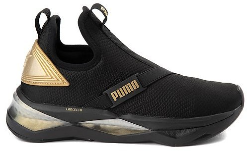 Womens Puma LQDCELL Shatter Mid Athletic Shoe - Black / Gold