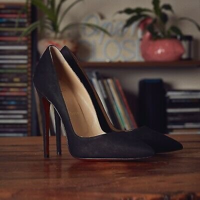 Christian Louboutin So Kate Suede Pumps Size UK 3 EU 36 Black Suede 120mm