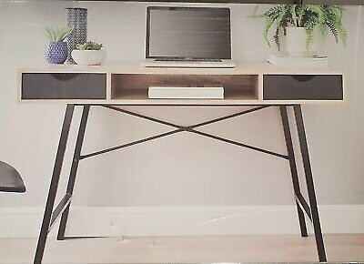 MICHIGAN Contemporary Computer Desk with Storage Home Office Study Console Black