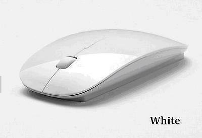 WHITE USB WIRELESS MOUSE SCROLL SLIM CORDLESS OPTICAL FOR USE WITH MAC PC LAPTOP