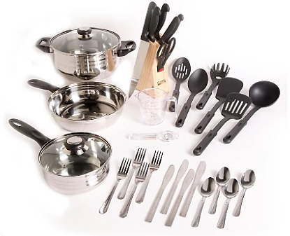 Kitchen Lybra 32-PieceGibson Home Total Cookware Combo Set | Ashley Furniture HomeStore