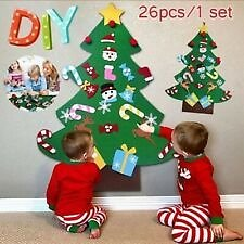 Kids DIY Felt Christmas Tree Santa Ornaments Wall Door Hanging Decor Xmas Gift