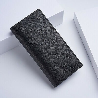 Men's Bifold Leather Credit ID Card Holder Long Wallet Purse Checkbook Clutch