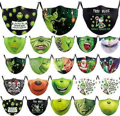 New 3D Print How The Grinch Stole Christmas Face Mask Cosplay Adult Masks Girfs
