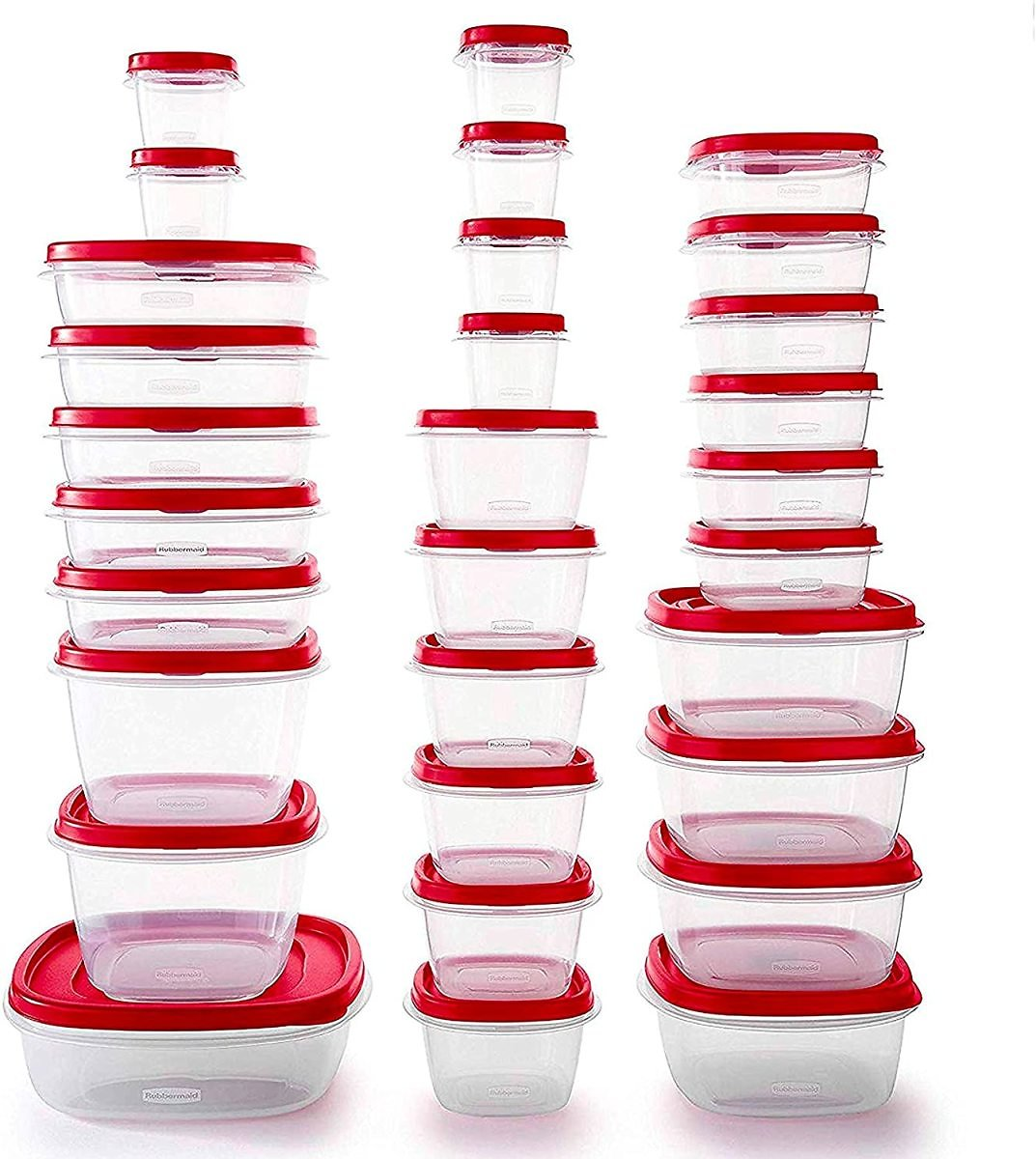 Rubbermaid Easy Find Vented Lids Food Storage Containers, Set of 30 (60 Pieces Total)