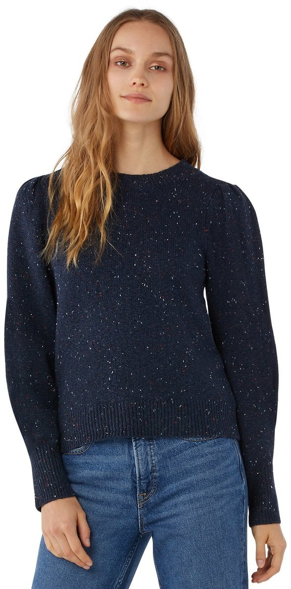 Free Assembly Women's Puff Shoulder Sweater