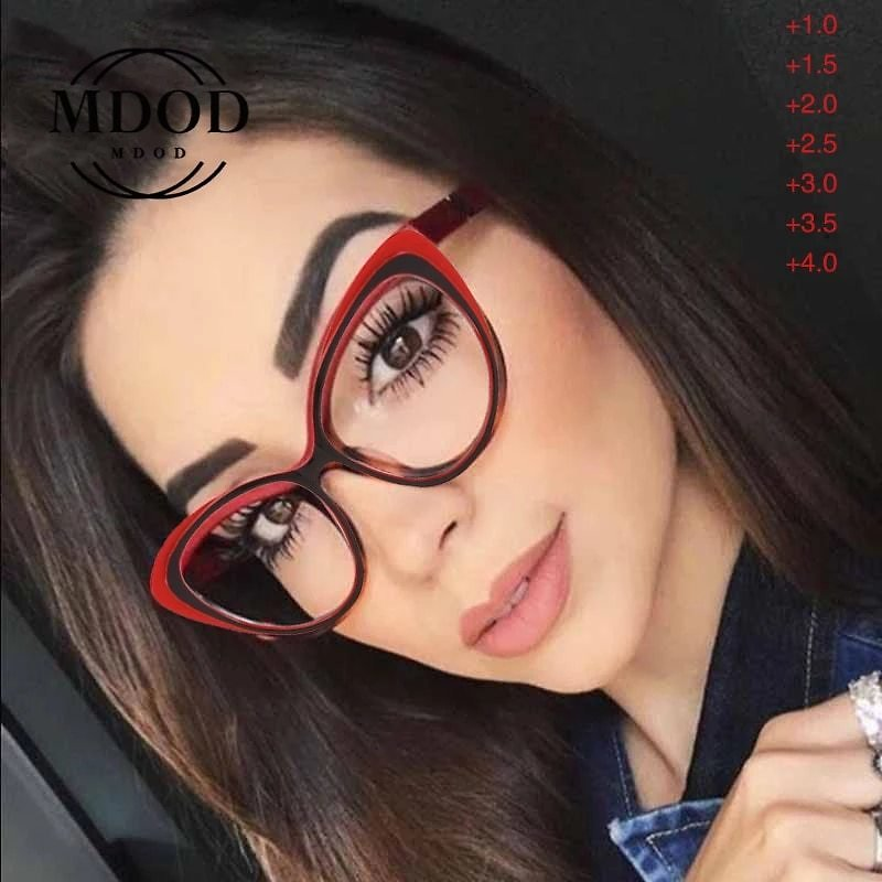 Fashion Women Cat Eye Reading Glasses Light Clear Eyeglasses Frame Lens Presbyopia Spectaclese Glasses +1.0 To +4.0