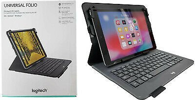 Logitech Universal Folio Keyboard Case Fits IOS Android & Windows Tablets 9-10
